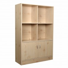 PAMICA SV6123 Lydia 6 Compartment Bookcase With Door and Storage Cabinet (Pine)