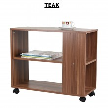 PAMICA ST2527-M Carson Mobile Side Table (Espresso, Teak, Walnut)