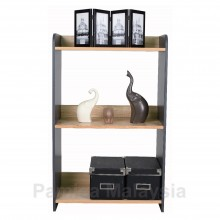 PAMICA Cozy SV6071 3 Tier Utility Shelf (Oak/Dark Grey)