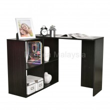 PAMICA WT7049-M Writing Table with 4 Side Shelf Espresso