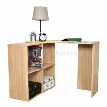 PAMICA WT7049-M Writing Table with 4 Side Shelf (Oak)