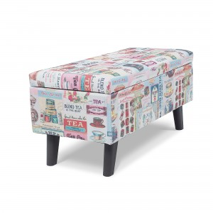 "PAMICA 3SC-SS01 Upholstered 32"" Rectangular Fabric Storage Ottoman"