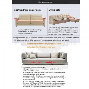 PAMICA Spandex Stretch Protector Couch Sofa Slipcover (1 Seater)