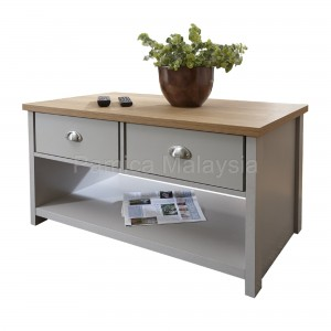 PAMICA CT2016-M Lancaster Downstairs 2 Drawer Coffee Table